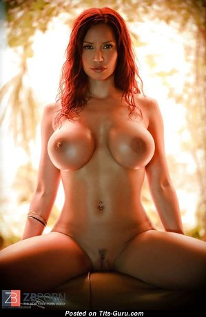 Bianca Beauchamp - Appealing Wet & Glamour Canadian Red Hair Babe with Appealing Defenseless Silicone Balloons & Big Nipples (Sex Pic)