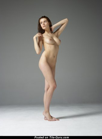Image. Nude awesome girl with medium natural tits image