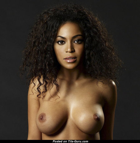 Perfect Topless Ebony Chick with Perfect Naked Medium Sized Tittys is Smoking (Porn Wallpaper)