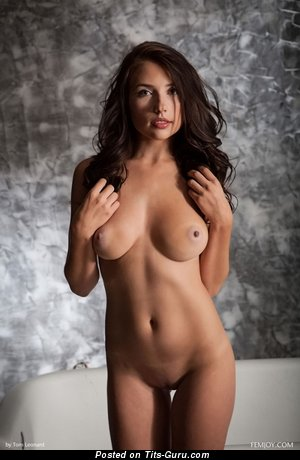 Image. Nude nice female with natural breast image