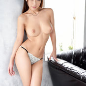Sexy asian brunette with medium tittes pic