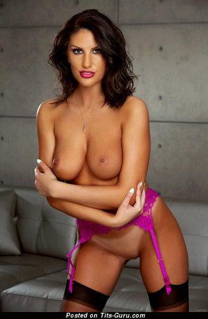 Image. August Ames - nude brunette with medium natural boobies pic