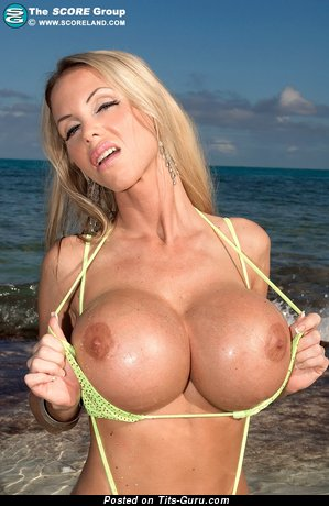 Image. Annina Ukatis - naked blonde with huge fake boobs pic