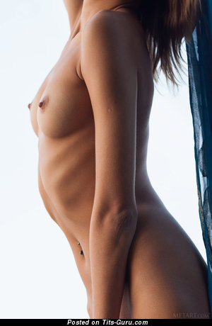 Image. Naked beautiful lady with small natural breast photo