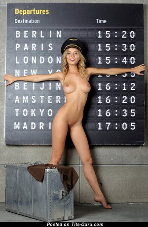 Image. Danica - nude blonde with natural tittes picture