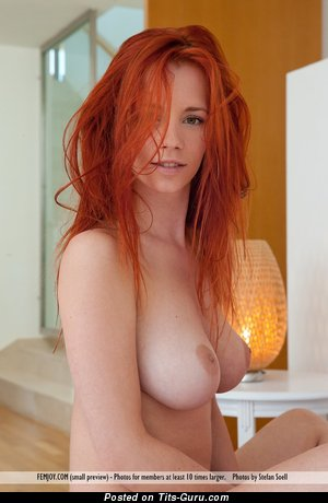 Ariel Piper Fawn - sexy naked red hair with medium natural breast pic