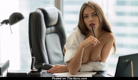 Viktoriia Aliko - Adorable Naked Secretary (Hd Sex Wallpaper)
