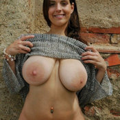Beautiful woman with huge natural tittys photo