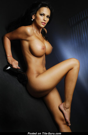 Adina Barbu - Magnificent Romanian Brunette with Magnificent Naked Round Fake Tits (18+ Foto)