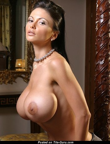 Image. Nude wonderful lady with huge fake boob photo