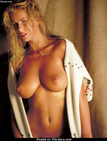 Naked wonderful girl with big natural breast photo