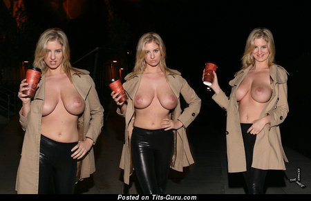 Image. Jenny Mcclain - sexy topless blonde with big natural tittys photo