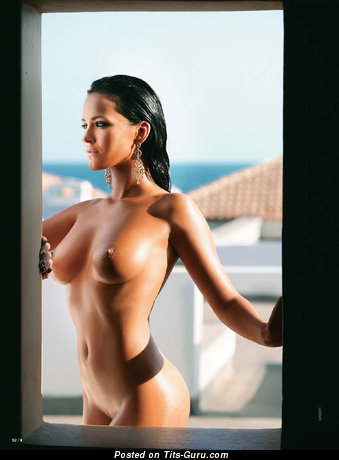 Image. Dasha Astafieva - sexy naked brunette with medium natural boob image
