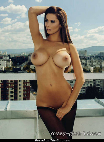 Belina Evgenieva - Perfect Playboy Brunette Babe with Perfect Bald Soft Boobie (Sexual Picture)