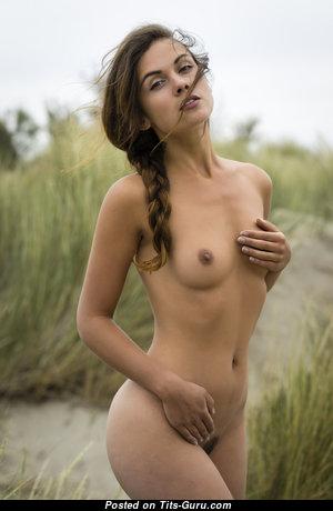 Splendid Babe with Splendid Bald Real Petite Breasts (Hd Sexual Photoshoot)