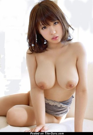 Image. Sexy topless asian brunette picture