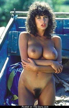 Donna Ewin - sexy nude brunette with medium boob vintage