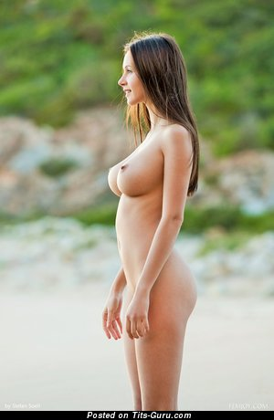 Alisa I - sexy nude hot lady with medium natural tots pic