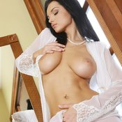 Brunette with big natural tittes photo