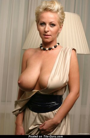 Image. Sexy topless blonde with big natural breast and big nipples image