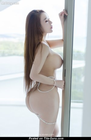 You Mi - Yummy Glamour Asian Brunette Babe & Pornstar with Splendid Bald D Size Boobie in Lingerie (Hd Sexual Pic)