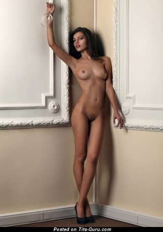 Image. Sexy topless amateur brunette photo