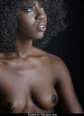 Image. Nude ebony with medium natural boobies picture