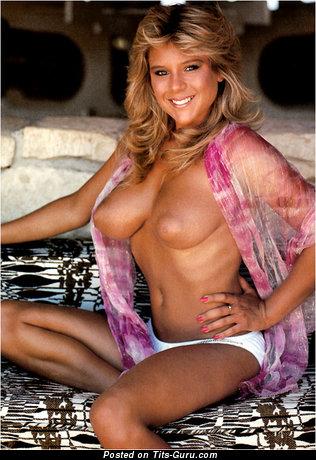 Samantha Fox (page 3 Girl) - Stunning English, British Blonde Babe with Stunning Bald Natural Regular Tits (Vintage Sex Image)