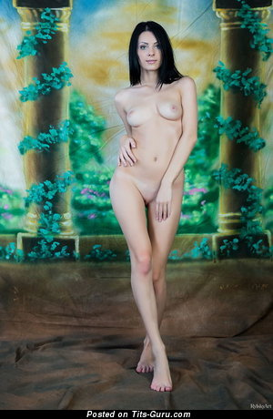 Image. Naked hot female with medium natural boobies pic
