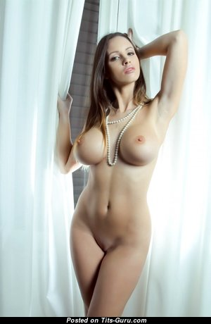 Hot Babe with Hot Naked Round Fake Titty (Hd Sexual Picture)