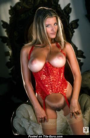 Kerri Kendall - Elegant American Playboy Blonde with Elegant Exposed Natural Busts & Tan Lines (Xxx Image)