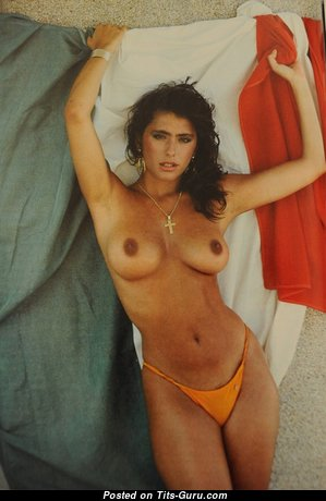 Sabrina Salerno - Hot Italian Brunette with Hot Nude Real Titties (Hd Sex Pix)