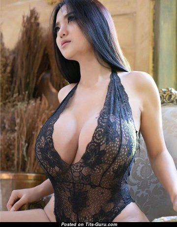 Yanisa Samohom - Stunning Asian Brunette with Stunning Open Big Sized Melons & Huge Nipples in Lingerie (Hd Sexual Pix)