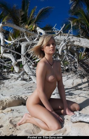 Image. Nude amazing girl with medium natural tots pic