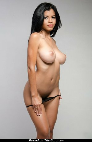 Lea - naked latina brunette with big natural breast picture