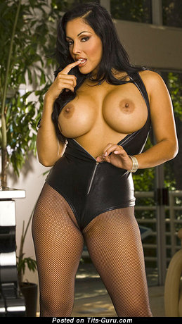Nina Mercedez - Sweet Mexican, American Brunette Babe with Sweet Open Round Fake D Size Jugs (Hd Porn Picture)