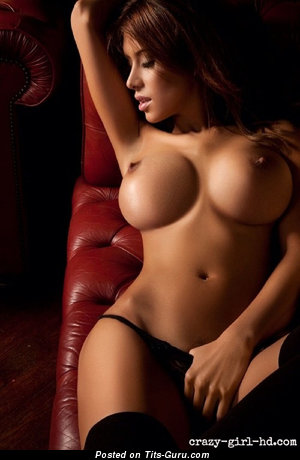 Fascinating Playboy Brunette & Red Hair Babe with Hot Defenseless Fake Medium Tit & Giant Nipples (Hd Sexual Pix)