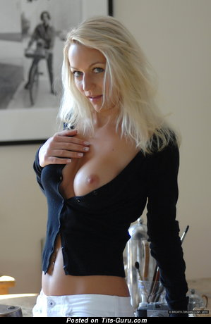 Ivana Breathtakers - Superb Blonde with Superb Bare Mid Size Hooters (Hd Sexual Picture)