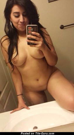 Image. Nude beautiful lady selfie