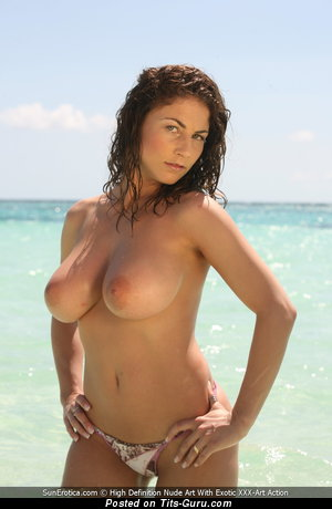 Image. Roberta Missoni - sexy topless beautiful girl with medium natural boobs picture