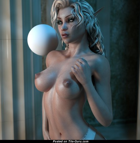Image. 3d Nude Teen - nude blonde with medium boobies photo