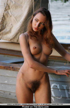 Daria - Perfect Brunette with Perfect Naked Natural Busts (Xxx Photoshoot)