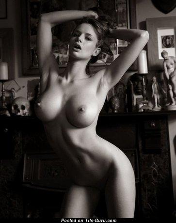 Image. Nude awesome girl with big fake tits image