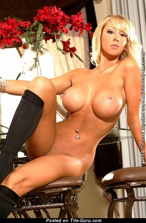 Image. Heaven Marie - sexy naked blonde with big fake boobies pic