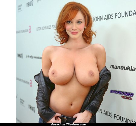Superb Red Hair Babe with Superb Bare Natural Very Big Tots (Hd 18+ Image)