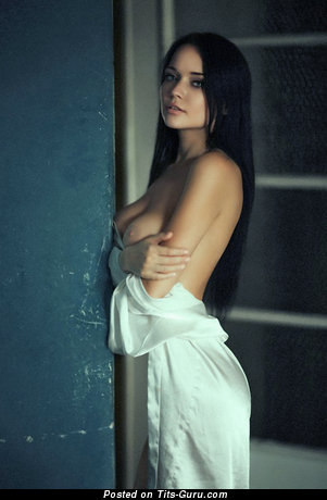 Ангелина Петрова - Graceful Ukrainian Brunette with Graceful Open Real Big Sized Titties (Porn Image)