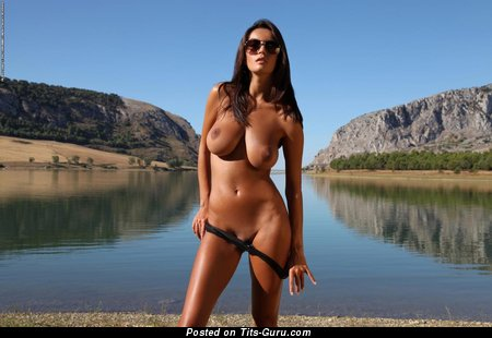 Image. Nude brunette with big natural tittes pic