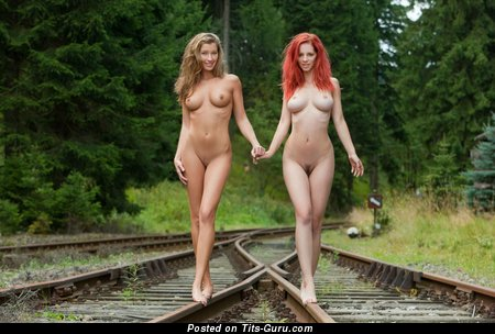 The Best Red Hair & Blonde with Splendid Bare Real Normal Melons (Hd Xxx Pic)