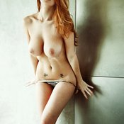 Leanna Decker - topless red hair with big natural tots pic