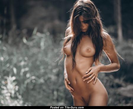 Ilvy Kokomo - Exquisite Topless Brunette with Exquisite Bare Natural Titties (Xxx Wallpaper)